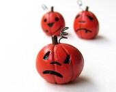 Halloween Pumpkin- Miniature Clay Jack-O-Lantern