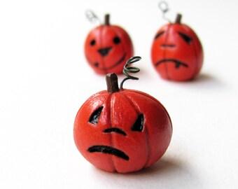 Miniature Sad Jack-O-Lantern- Halloween Fall Home Decoration