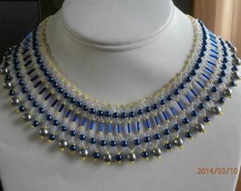 Bugle Bead Beadwoven  Collar