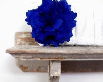 Cobalt blue wedding clutch, Ivory wedding clutch, Bridesmaids clutch set, Silk wedding purses, Wedding gift, Personalized gift, Makeup bag