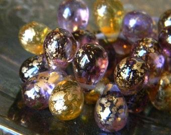Fairy Dance (25) -Czech Glass Drops 9x6mm