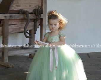 Mint Flower Girl Dress