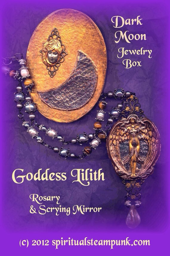 Lilith Goddess Rosary Necklace Pendulum Scrying By Spellworker