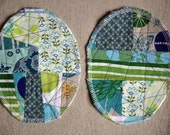 Patchwork Knee Patches - set of 2 bluegreen