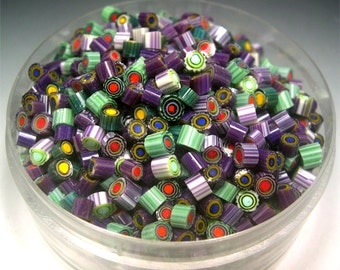 COE 104 MURRINE 50 chips Murrini glass Donna Millard sra can be used with torch fired copper enameling