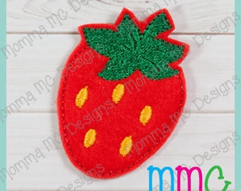 Strawberry Felt Feltie Embroidery Design