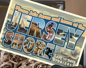 Vintage Large Letter Postcard Save the Date (Jersey Shore) - Design Fee
