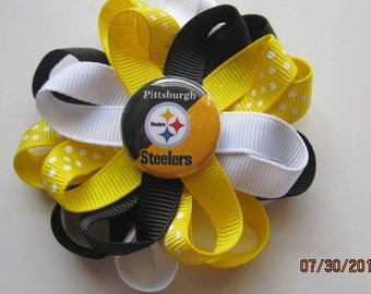 Pittsburgh Steeler inspired hair clip