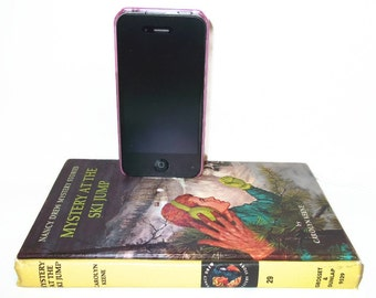 SALE Nancy Drew Book IPhone Docking Station Charger IPod Dock Charging Station Tech Lover Mystery at the Ski Jump