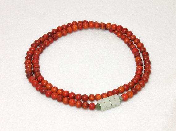 Redwood 108-Bead Wrist Japa Mala