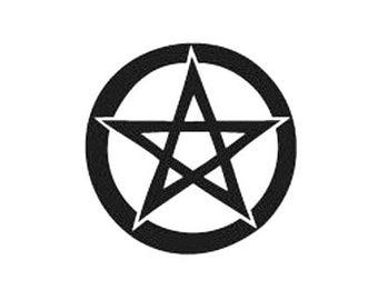 Pagan Pentacle Wiccan Rubber Stamp Pentagram large