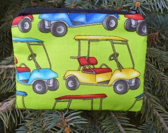 Golf carts coin purse, gift card pouch, credit card pouch, The Raven