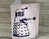 Dalek graffiti note card - Doctor Dr Who Dalek London Graffiti Stationery Greetings Card Exterminate