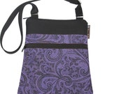 Cross Body Bag Shoulder Purse Sling Bag Small Travel Purse Fits eReaders HIPSTER - Pixy Purple Fabric