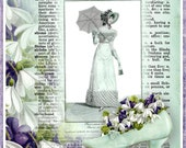 INSTANT DOWNLOAD Vintage French Regency Fashion Dictionary Page Collage for Journals, Cards, Crafts Digital Printable