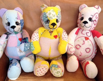 Custom Order Handmade Memory Keepsake Bears