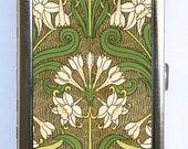 Art Nouveau Floral Cigarette Case id case Wallet Business Card Holder