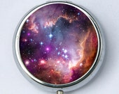 Galaxy Stars pillbox PILL case box holder outer space