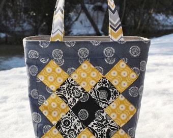 PDF Patchwork Tote Bag PATTERN, Mini Charm friendly, Sophie Jane Bag