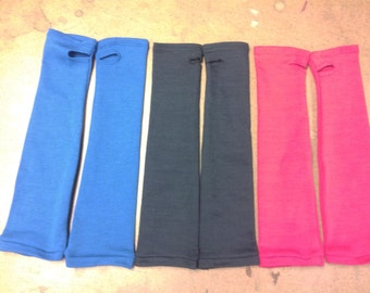 Flame Retardant Sleeves, Elbow Length, Solid Black, White, Blue, Red, or Purple