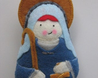 Saint Winifred Felt Saint Softie