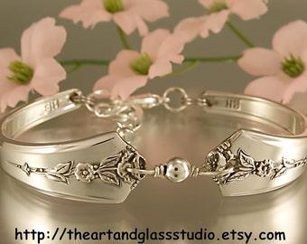 Silver Spoon Bracelet SPRING GARDEN Jewelry Vintage, Silverware, Gift, Anniversary, Wedding, Birthday