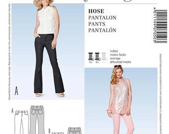 Burda Style Sewing PATTERN - 7050 Slim Pants - Sz 6 - 18