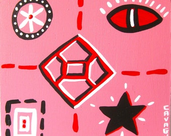 original painting / Choice Of Poisons / 4423 / pink not blue