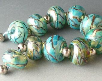 Glass Lampwork Beads Elektra Twisty 8 by Catalina GlassSRA