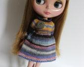 80s A Go Go - Long Sleeved Knitted Dress for Blythe