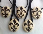 1 Ceramic Fleur De Lis Necklace
