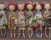 Primitive Doll E-Pattern Six Pack Seasonal Raggedies