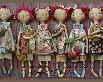 Primitive Doll E-Pattern Six Pack Seasonal Raggedies