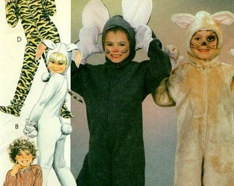 McCall's 9233 - Adorable Animal Costumes - MOUSE, BUNNY, JUNGLE Cat