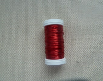 164 Feet of 24 gauge red colored wire (silver or gold or lime green)