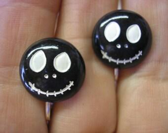 """Skull - Smiley Skull - Earring - 5/8"""""""