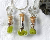 FREE SHIPPING, The WITCHES Garden ,Terrarium, Jewelry Set,  Vines From A Real Witches Vine