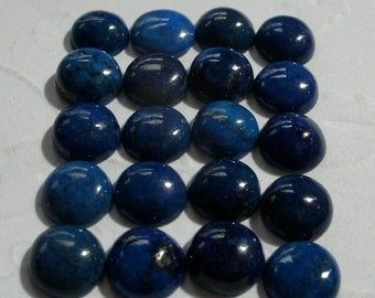 Semi Precious Cabochons Lapis Blue Round 8mm FOR ONE