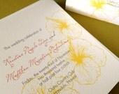 Vintage Hawaiian- wedding program,set of 40