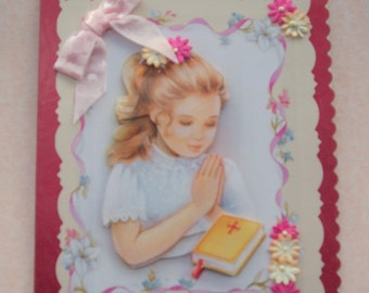 Holy Communion or Confirmation Card 3D decoupage