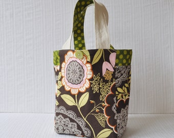 2 Pocket Medium Gift Bag - Lacework in Olive