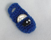 Crochet keychain Coin Cozy, coin holder, coin pouch, mini purse, coin purse, ring holder  - Blue with Ant