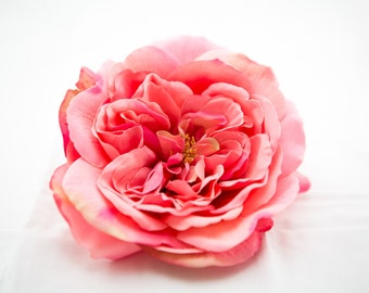 Large Pink Sophia Rose - Artificial Flower, Silk Flower Heads - ITEM 0393