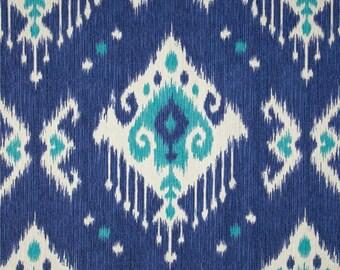 Ikat valance blue white valance  magnolia dakota yacht blue valance blue valance blue ikat valance.