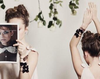 Bow Bracelet. Feminine Bow Bangle.