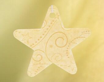 Embossed Star Car Air Freshener, Stars & Swirls