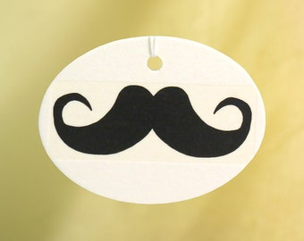 Moustache Car Air Freshener, Black