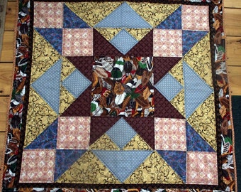 Native American Feather Star Quilt Wall Hanging