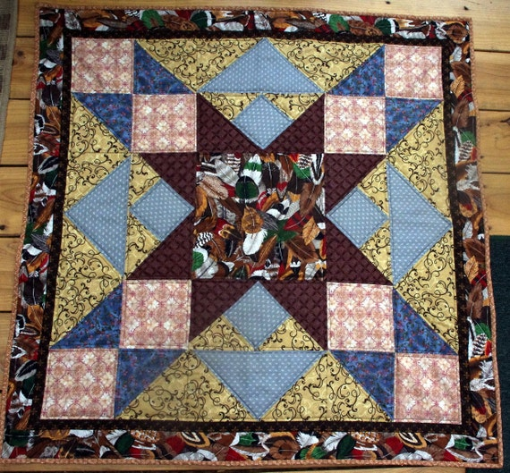 Native American Feather Star Quilt Wall Hanging Quiltsy