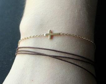 Cross Bracelet/Cross Jewelry/Gold Cross Bracelet/Silver Cross/Faith Bracelet/Spiritual Jewelry/Jewelry/Bracelet/Gold Jewelry/Silver Jewelry